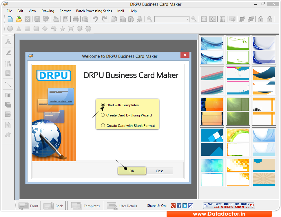 Screenshots of Birthday card maker software to design Birthday card