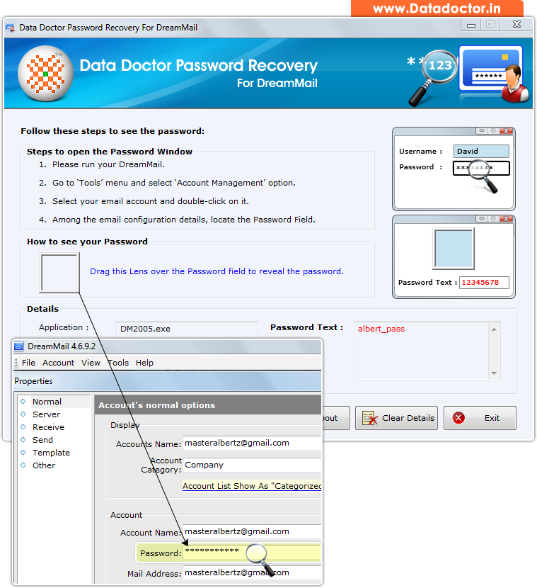 email password recovery software gmail