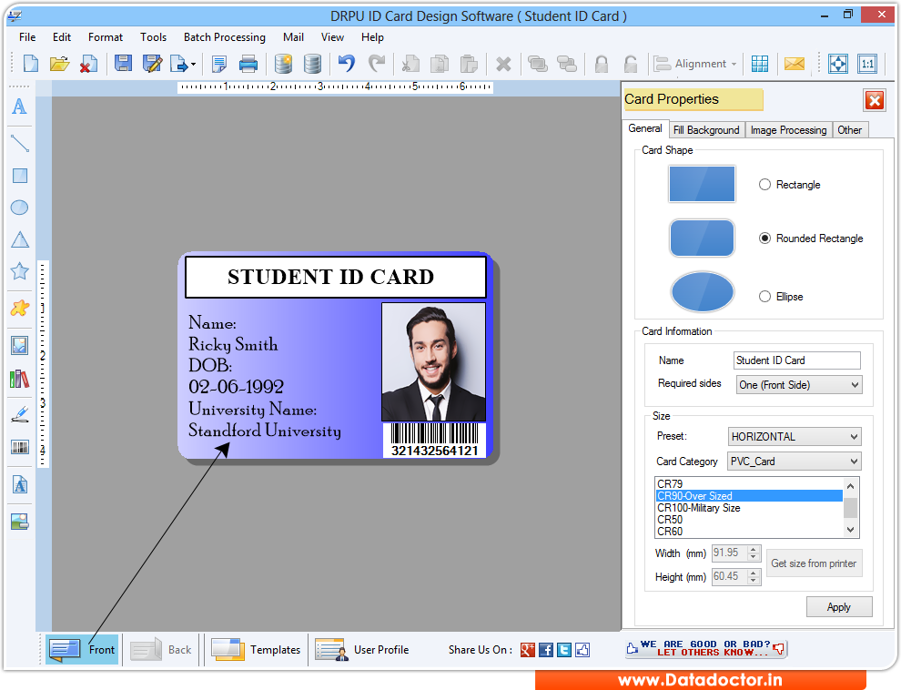 Program Employee Maker Student Tool Creator Business Badges Identification Id
