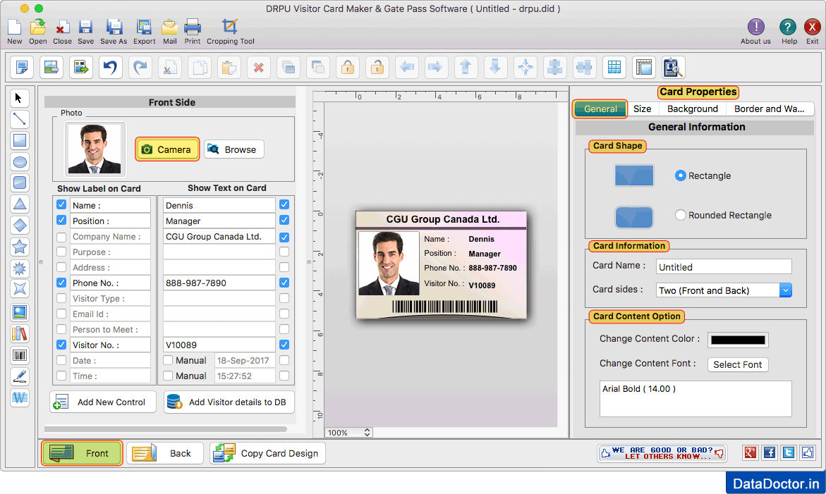 Mac Edition Of Gate Pass Id Cards Maker Software Creates Visitor