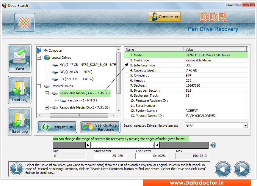 A Data USB Flash Drive Recovery скачать