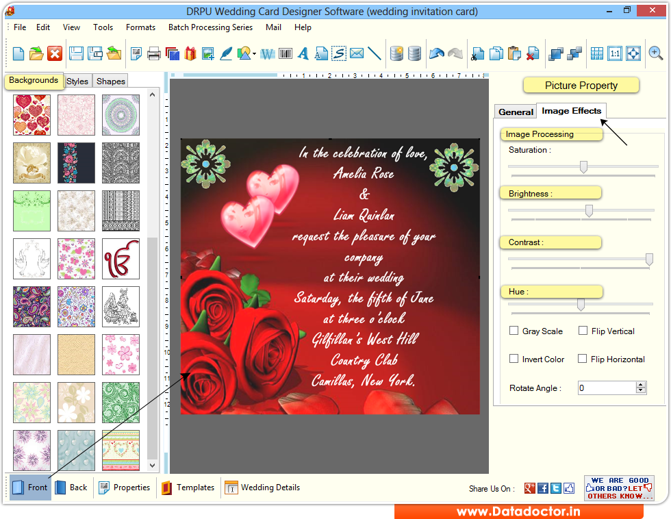 Wedding card maker software design colorful marriage invitation cards wedding card maker software stopboris Image collections