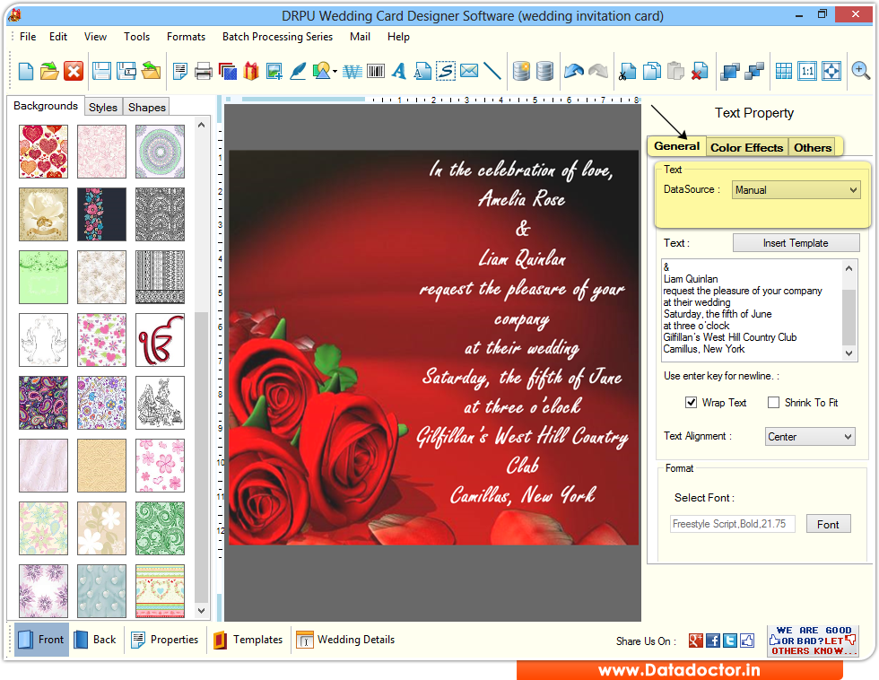 Screenshots Of Wedding Card Maker Software To Learn How To Design Card