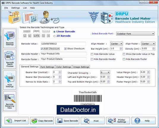 Pharmacy Barcode tool designs customized tags