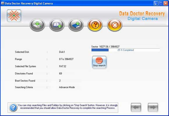 Digital Camera Pictures Recovery screenshot