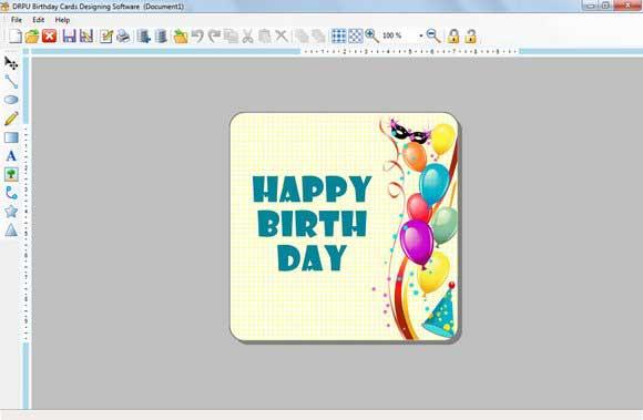 Make and Print Birthday Card screenshot