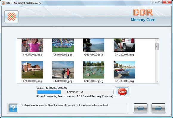 Recover Compact Flash Card Data screen shot