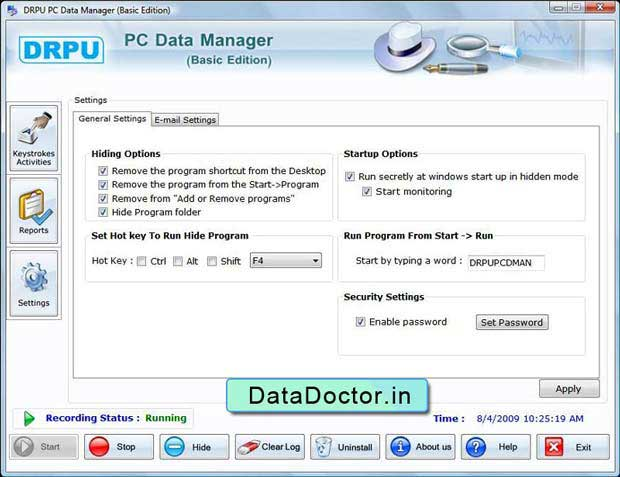 Keylogger Software allow users to simply record unauthorized user activity