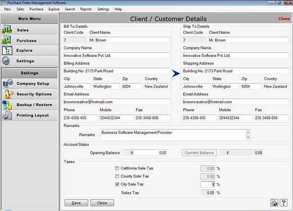 Purchase Order Business Software 2.0.1.5