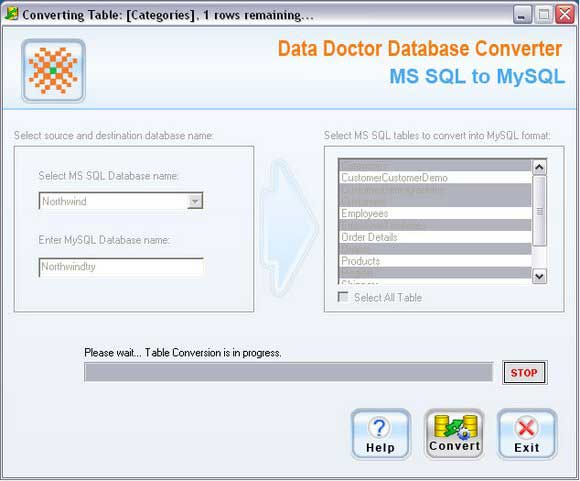 MSSQL to MySQL Conversion Software